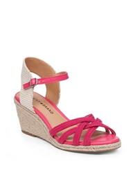 Lucky Brand Kalley3 Espadrille Wedge Sandals Red