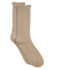 Charter Club Women's Big Small Texture Socks Only At Macy's Pale Oatmeal