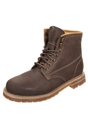 Dockers By Gerli Laceup Boots Stone Brown