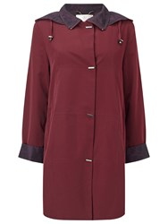 Jacques Vert Classic Mid Length Mac Dark Red