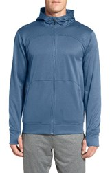 The North Face Men's 'Ampere' Zip Front Fleece Hoodie Shady Blue