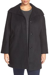 Plus Size Women's Ellen Tracy Wool Blend A Line Coat
