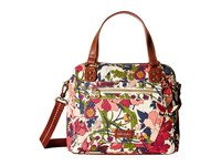 Sakroots Artist Circle Crossbody Satchel Cream Flower Power Satchel Handbags Multi