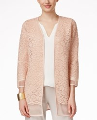 Alfani Open Lace Cardigan Only At Macy's Ballet Pink