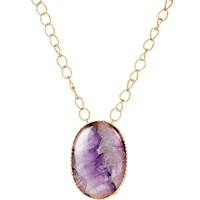 Christina Greene Pendant Necklace Amethyst Pink Purple