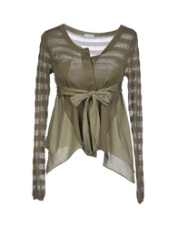 Peuterey Cardigans Military Green