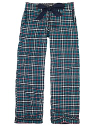 Fat Face Otterbourne Check Pyjama Pants Teal