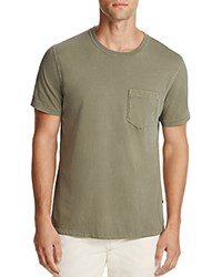 Billy Reid Washed Cotton Pocket Tee Moss Green