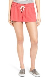 Roxy Women's 'Oceanside' Linen Blend Shorts Geranium