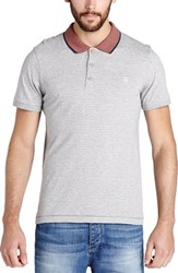 Men's Bench 'Curl' Polo Grey Marl