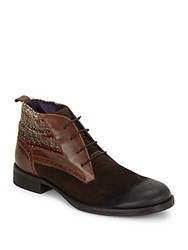 Robert Graham Lazio Round Toe Boots Dark Brown
