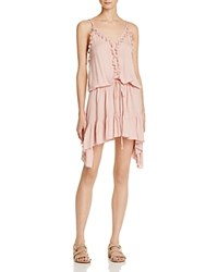 Vintage Havana Ruffled Tassel Dress 100 Bloomingdale's Exclusive Pink