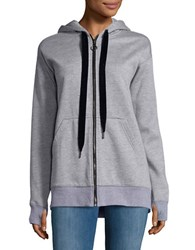 Highline Collective Zip Up Ny Hoodie Grey
