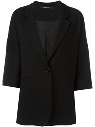 Tagliatore Three Quarter Sleeve Blazer Black
