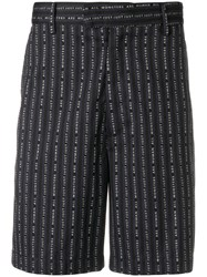 Just Cavalli Slogan Print Bermuda Shorts Blue