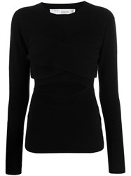 Iro Denny Cut Out Top Black