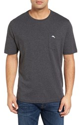 Tommy Bahama Men's Big And Tall 'New Bali Sky' Pima Cotton Pocket T Shirt Charcoal Heather