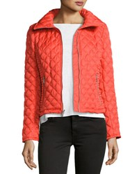Marc New York Charlie Chain Link Quilted Jacket Orange