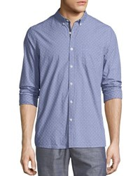 Civil Society Yarn Dyed Dobby Button Down Shirt Gray