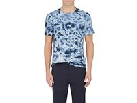 Theory Men's Tie Dyed Pima Cotton T Shirt Navy Blue