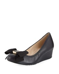 Cole Haan Tali Grand Soft Bow Wedge Pumps Black
