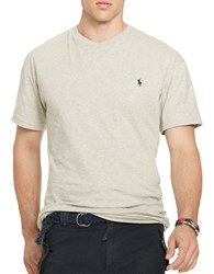 Polo Big And Tall Jersey V Neck T Shirt Grey