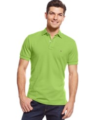 Tommy Hilfiger Men's Custom Fit Ivy Polo Bright Lime Green