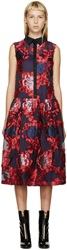 Erdem Red And Purple Organza Greta Dress