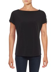 Michael Michael Kors Chain Accented Jersey Knit Top Black