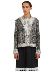 Christopher Kane Metallic Tweed Jacket Black