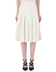 Stussy Knee Length Skirts Ivory