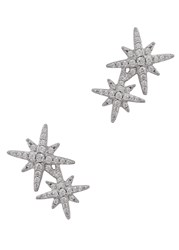 Apm Monaco Sterling Silver Star Earrings