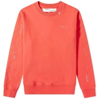 Off White Unfinished 3M Arrow Crew Sweat Red