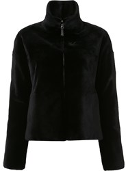 J. Mendel Reversible Sheared Jacket Black