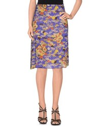 Just In Case Skirts Knee Length Skirts Women Purple