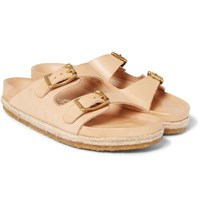 Yuketen Arizonian Leather Slides Sand