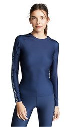 Ultracor Velocity Deco Stripe Long Sleeve Tee Oxford Blue Metallic