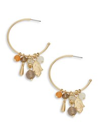 Theodora And Callum Charm Cluster Hoop Earrings