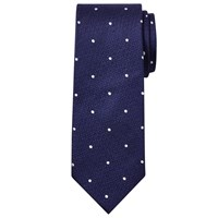 Chester Barrie By Spot Silk Tie Navy