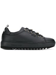 Trussardi Jeans Lace Up Sneakers Black