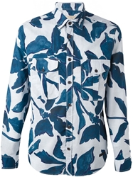 Burberry Brit Floral Print Patch Pocket Shirt White