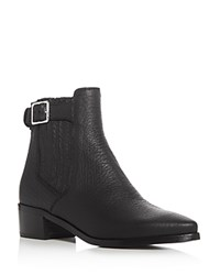 Belstaff Albaz Pointed Toe Mid Heel Booties Black