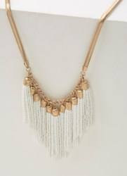 Mint Velvet Gold And Ivory Beaded Necklace Gold