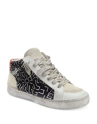 Dolce Vita Zane Printed Lace Up Sneakers Black