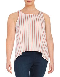 Bb Dakota Plus Striped Tank Top White Copper