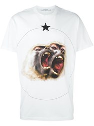 Givenchy Monkey Brothers Printed T Shirt White