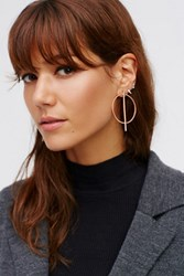 Free People Womens Straight Through Hoops