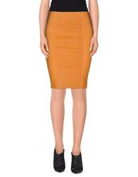 Couture Du Cuir Skirts Knee Length Skirts Women Orange