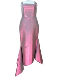 Christian Siriano Strapless Fitted Dress Pink
