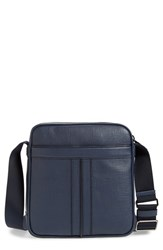 Men's Tod's Double Stripe Leather Messenger Bag Blue Navy